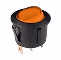Circular Rocker switch <br>AMBER ILLUM. ROCKER <br>ON/OFF<br>12v@20Amp <br>ALT/SW-R13-112BA12-25